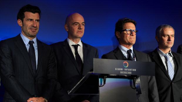 Louis-Figo-Gianni-Infantino-Fabio-Capello-Jose-Mourinho