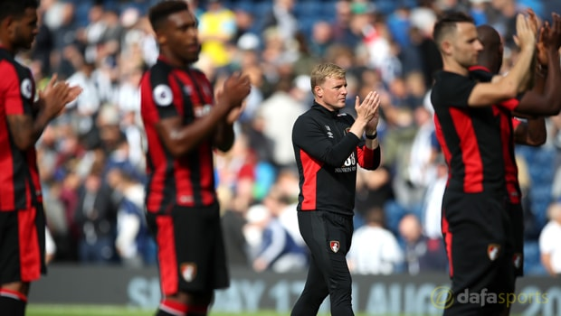Jermain-Defoe-and-Eddie-Howe-Bournemouth